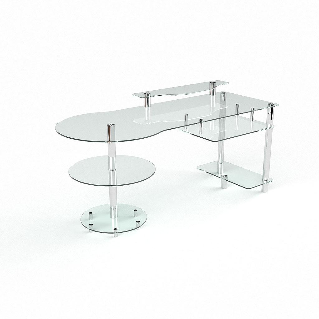 Письменный стеклянный стол 62 мебель из стекла.